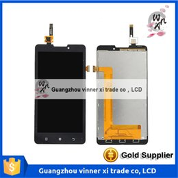 Wholesale Mtk6589 Inch Screen - High Quality LCD Display + Touch Screen Digitizer glass panel For Lenovo P780 MTK6589 5.0 inch Black Color Free Shipping