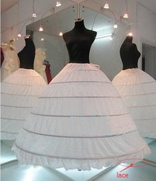 Wholesale Ivory Petticoats - 2017 Hot Sale White Wedding Gown Petticoat 6 Hoops Cheap Ball Gown Underskirt for Wedding Gown Bridal Dress Wedding dress petticoat