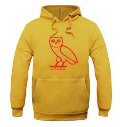 Wholesale Owl Sleeves - 2017 men's sweatshirt Cotton Hoodie plus fleece fashion sweater OVOX owl hooded New women's Long Sleeve hoodie clothing
