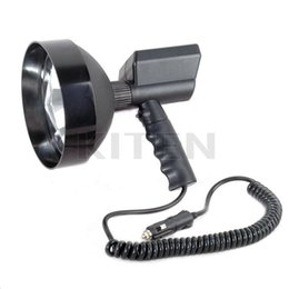 "Wholesale Hid Fishing Lights - Wholesale-12V 100W HID 7"" Xenon Handheld Camping Hunting Fishing Super Light Spotlight Free Shipping"