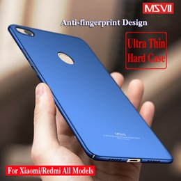Wholesale Iphone Matte Case Hard Cover - Original MSVII For Xiaomi MI 4 5s 5s Plus Redmi 4 Pro Note 4 3 Red Rice Ultra Thin Slim Matte Hard PC Phone Cover Case 360 Full Protection
