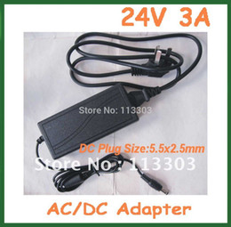 Wholesale Power Supply 24v 3a - Wholesale- Free Shipping 24V 3A 72W 5.5x2.5mm AC DC Adapter Power Supply Charger AC 100V-240V for Printer LCD Monitor Wholesale