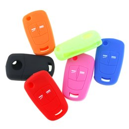 opel astra chaves Desconto 6 cores 2 botões silicone flip dobrável tampa da chave do carro para Vauxhall Opel Corsa Astra Vectra Signum CIA_407