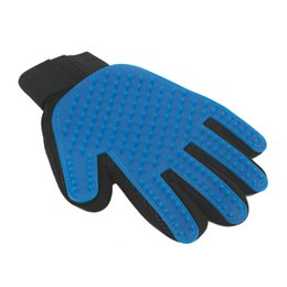 Wholesale Magic Hand Glove - True Touch Deshedding Gloves Cleaning Brush Magic Massage Hair Fur Removal Pet Dog Cat Grooming Right Left Hand Comfort Animal Free Ship
