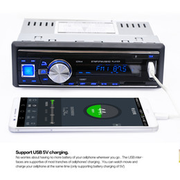 Wholesale Sd Card Car Stereos - 1068 1Din 12V Bluetooth Auto Car FM Radio Stereo Audio Player Support Handsfree Call AUX   MP3   USB   SD Card + Remote Control CAU_01J