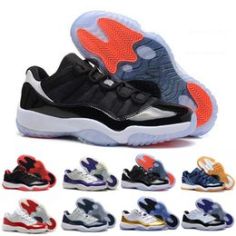 Wholesale Bred 11 Shoes - Air retro 11 gamma Legend blue bred cool grey 11s concords lows men women basketball shoes sneakers XI Good Quality Version all size 36-47