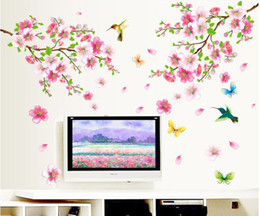 Wholesale Military Switches - Flowers Removable Wall Stickers Decal Art Vinyl Flower Mural Home Room Decor DIY