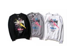 Wholesale New Design Hoodies - New 20 Designs ST World Tour Paint Colorful Splash-ink Unisex Sweats Tops Couples Hoodies Fleece Bird OVO Drake