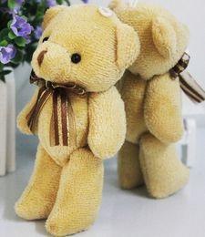 Wholesale Stuffed 12cm Teddy Bears - Wholesale-Adorable Soft Plush Stuffed 12cm Cute Bear Toys Brown Lovely Teddy Bear Toy Doll UK