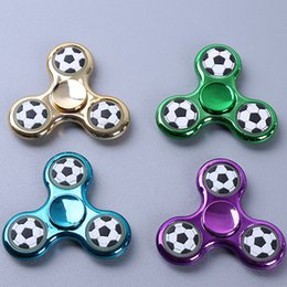 jouets pour adultes Promotion Football Spinner Fidget Spinner Triangle Doigts Edc Tri Gyro Spinning Spirertips Spirale Anxiété Soulager Le Stress Jouets pour Adultes Enfants