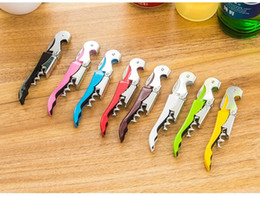 Wholesale Promotional Knives - Multi-function Wine Corkscrew Stainless Steel Bottle Opener Knife Pull Tap Double Hinged Corkscrew Creative Promotional Gifts wa3988