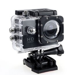 Wholesale Underwater Diving Video - Action Camera 2 Inch LCD Screen 1080P Helmet Sports DV Video Car Cam DV Action Waterproof Underwater 30M Camera Camcorder