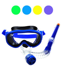 Wholesale Fishing Equipment Wholesalers - Wholesale- Fish SunDay Children Swimming Goggles Semi-dry Snorkel Equipment Levert Dropship Dec16