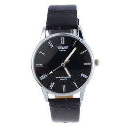 Wholesale Number Electronics - Wholesale- Top Brand Luxury Fashion Clock Classic Men's Watch Roman Number Hour Quartz Electronic Leather Wrist Watches Montre Homme Saat