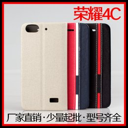 Wholesale Huawei Phone Skins - For huawei honor 4c Business & Fashion Flip Leather Cover for Mobile Phone huawei honor 4c Case Cover Matching Color Skin Pouch