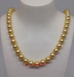perle del sud mare dorato naturale Sconti Fine Pearls Jewelry ROTONDO lungo 26