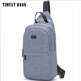 Wholesale Open Chest Women - Wholesale- TINYAT Summer Vacation Travel tour trip jounery men chest bag women chest pack Waist Pack Messenger Bag Gray Blue Red T607