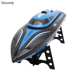 Wholesale Rc Speed Water - Wholesale- New Skytech H100 2.4G 4CH Water Cooling High Speed RC Simulation Racing Boat Outdoor
