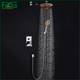 Wholesale Phone Mixer - Concealed Shower Set Panel Bathroom Mixer Faucet Bath Tap Shower Head With Phone Bluetooth Listen Music Chrome Polished HS045