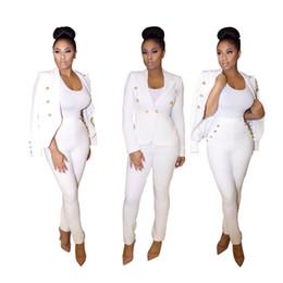 Wholesale Elegant Casual Pants Suits - New Arrival Fashion Women's Sets Blazer+pants Long Sleeve Slim Sexy Elegant Lady's Suit Business Two-piece Casual Spring Autumn Suits