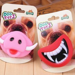 Wholesale Making Dog Toys - 100 pcs Durable Safe Funny Squeak Dog Toys Devil's Lip Sound Dog Playing Chewing Puppy Make The Dog Happy