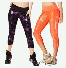 Wholesale Purple Striped Spandex - woman yoga pants Great Getaway Metallic Perfect Capri Leggings woman bottoms woman leggings free shipping