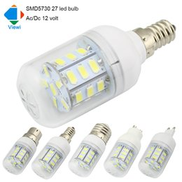 Wholesale Led Lamp E27 24v - 5X led light bulbs 12 volt E27 E12 E14 B22 GU10 G9 Ac Dc 12v bulb lamp 5630smd 27leds energy saving solar lighting