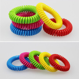 Wholesale mosquito repellent band bracelets - Anti- Mosquito Repellent Bracelet Anti Mosquito Bug Pest Repel Wrist Band Bracelet Insect Repellent Mozzie Keep Bugs Away Mixed Color3002006