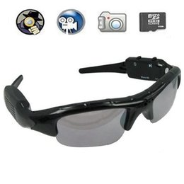 Wholesale Eyewear Video Recorder - Spy Sunglasses Camera Portable Eyewear mini camcorder DVR Sunglasses Spy camera Mini Audio Video Recorder with retail box