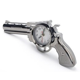 Wholesale Alarm Pistols - Creative Fashion Pistol Alarm Clock Personality Children Clock Cool Home Accessories Creative Table Clock Students Gifts Books Decoration