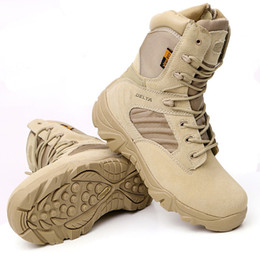a0ec3f728c2 Delta de alta calidad ultra ligero Botas tácticas respirables para hombre  Botas de combate del ejército militar US Army Shoes Desert / tamaño negro 39  ...