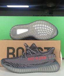 Wholesale Factory Racing - AH2203 Beluga 2.0 Boost 350 V2 Real Boost Factory Beluga V2 Boost 350 Kanye West DA9572 Dark Green Running Shoes Cream White Zebra Sneakers