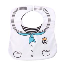 Wholesale Sailor White Uniform - Wholesale- White Cute Sailor Uniform Baby Bib Nutrition Latz