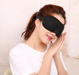 Wholesale Padded Blindfold - New 3D Soft Aid Sleep Masks Padded Shade Patch Blinder Rest Travel kits Relax Sleeping Blindfold eye mask colorful holiday gift
