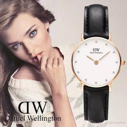 Wholesale Women Rhinestone Waterproof Watch - Women Watches Fashion Brand Luxury Casual waterproof Clock 26MM Dress relogio feminino Relojes Mujer Wellington Rhinestone simple watch