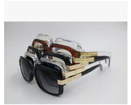Wholesale Wholesale Mens Eyeglasses - Ca zal 607 Sun glasses Eyewear Luxury Cazals Polarized Vintage Mens Womens Aviator Sunglasses Brand Designer Oversized Big Frame Eyeglasses