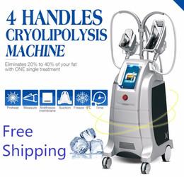 Wholesale coolsculpting machines - 4 Handle Lipofreeze Criolipolisis Lipo Cryo Cryotherapy Fat Freezing Zeltiq cryolipolysis coolsculpting liposuction slimming beauty machine