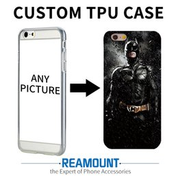 Wholesale Custom Printed Plastic Bags - 100pcs Custom DIY Print Phone Cases For Apple iPhone 5 5S SE 6 6S 7 Plus 6Plus Cover Case Personalized Silicone Soft Back Shell Bags