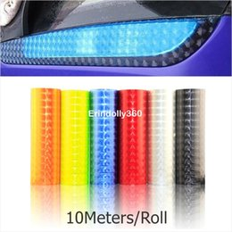 Wholesale Auto Tint Roll - 10m Roll x30Cm 12 colors Styling Auto 3D Cat's Eye Car Sticker Smoke Fog Light HeadLight Taillight Tint Vinyl Film Free Shipping