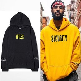 Wholesale Color Security - Wholesale- Fashion Mens Justin Bieber Purpose Tour Hoodie Security Hooded Sweatshirt Long Sleeve Hoody Tops Size S-XXXL