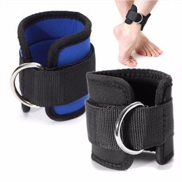 Wholesale Gym Lifting - Wholesale- Ankle Strap D-ring Multi Gym Cable Attachment Thigh Leg Pulley Weight Lifting 1Pc
