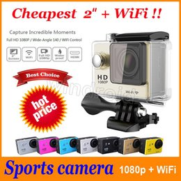 """Wholesale Cheapest Car Lcd - W9 style Sports Camera HD Action 2"""" WIFI Diving 30 Meter Waterproof Cameras 1080P Full HD 140° Camera Cameras Sport DV Car colors cheapest"""