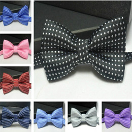 Wholesale Child Pink Bow Tie - Kids bowties polka dot bow tie Boy Girl baby bowtie women men bow ties fashion neckwear for Wedding Party Children Christmas wholesale DHL
