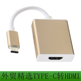 Wholesale Hdmi Cable Adapter For Laptop - .2017 New USB 3.1 Type C USB-C to HDMI Adapter 1080P or 4K Resolution for Macbook Laptop USB Cable Wholesale