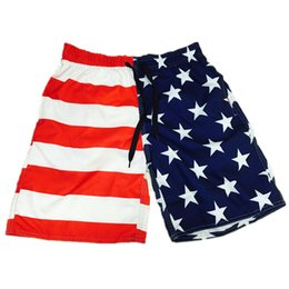 Wholesale England Flag Prints - 7-14 Years 2017 New Summer Hot Short Pants for Children American Flag Printed with Drawstring Surfing Trunk Swimwear Boardshorts QT6061