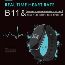 Wholesale B11 Sports Bluetooth Bracelet Intelligent Heart Rate Sleep Monitor Waterproof Bluetooth Step Ios Andrews News Smart Watch Wristbands