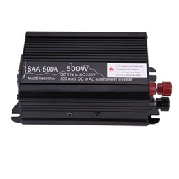 Модифицированный 12v инвертор онлайн-Wholesale- Solar Power Inverter Mini Off Grid Pure Sine Wave Inverter 300W 500W 1000W 1500W 12V DC-230V AC Modified Conventer High Quality