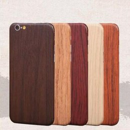 Wholesale Iphone Vinyl Stickers - Wood Sticker For iPhone 7 6 6s Plus Luxury Phone Full Body Decal Wrap Protective wooden Whole Body Vinyl Sticker With Retail Package