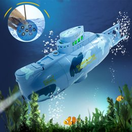 Wholesale Toy Submarines Rc - Wholesale- Remote control RC Submarine Toys 3 Channels RC Mini Submarines Model for Kids Summer Fun toys