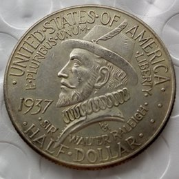 Wholesale Commemorative Silver Dollar Half - HOT SELLING promotion 1937 Roanoke Commemorative Half Dollars Free shipping Cheap Factory Price nice home Accessories Silver Coins